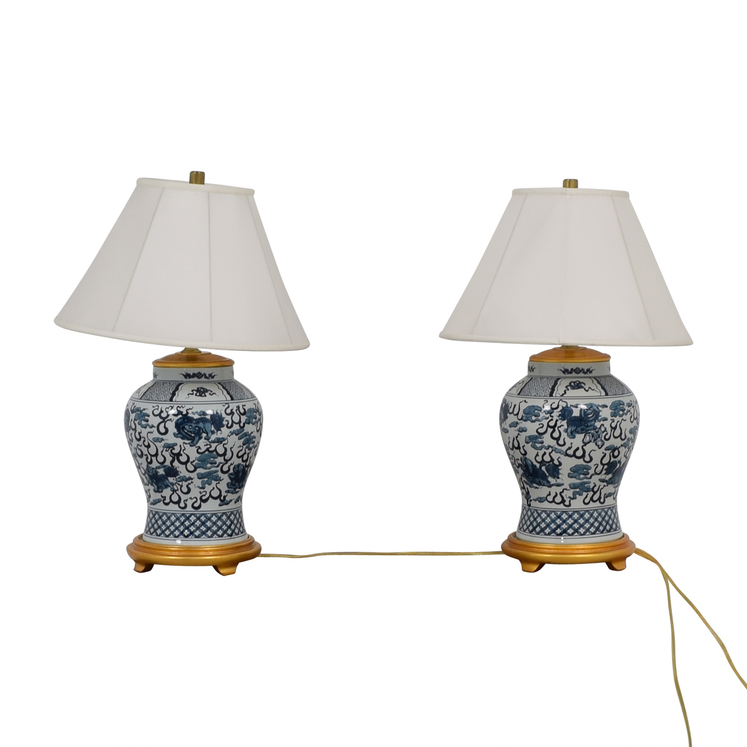 shop Ralph Lauren Twin Asian Blue & White Lamps Ralph Lauren Lamps