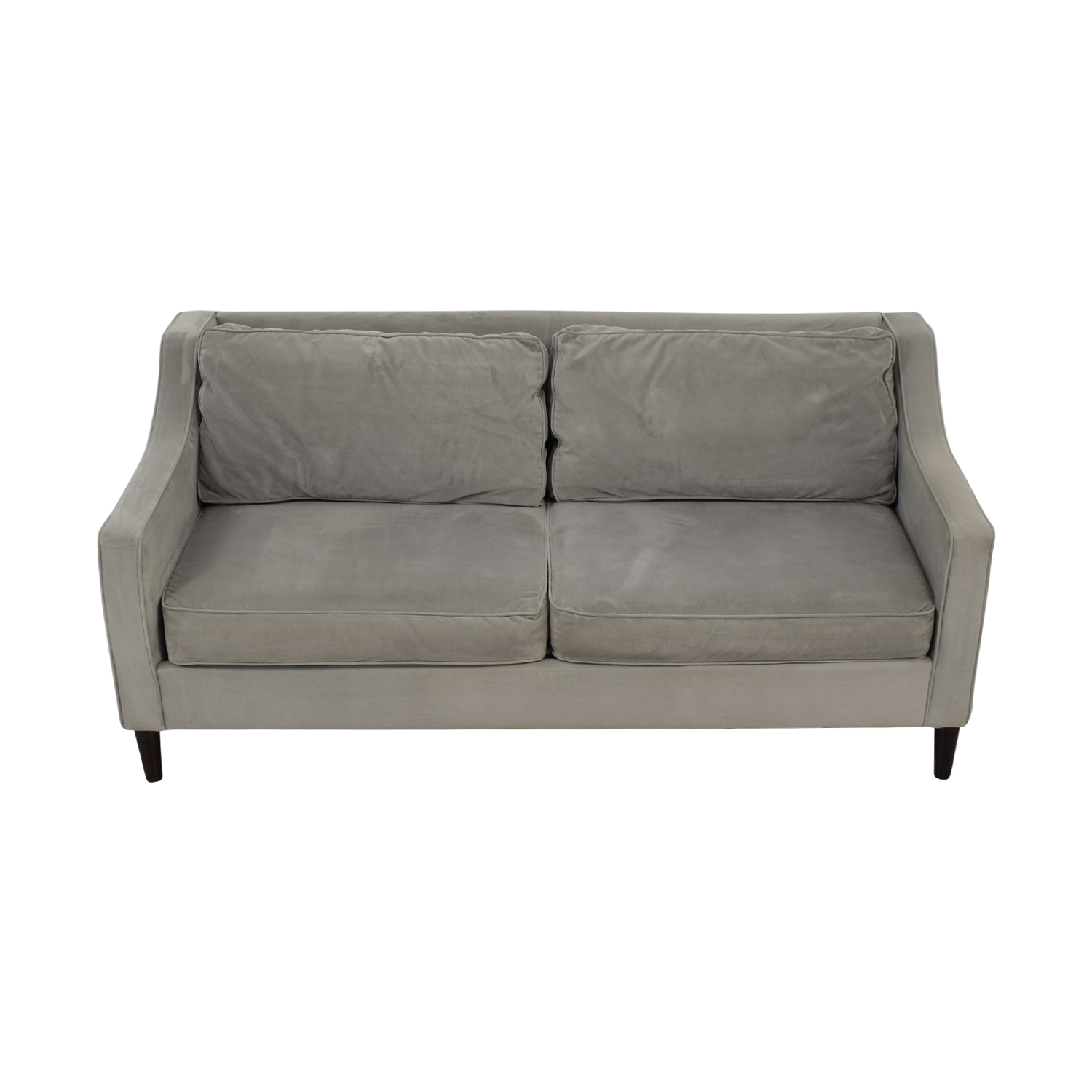 West Elm West Elm Two-Cushion Grey Sofa coupon