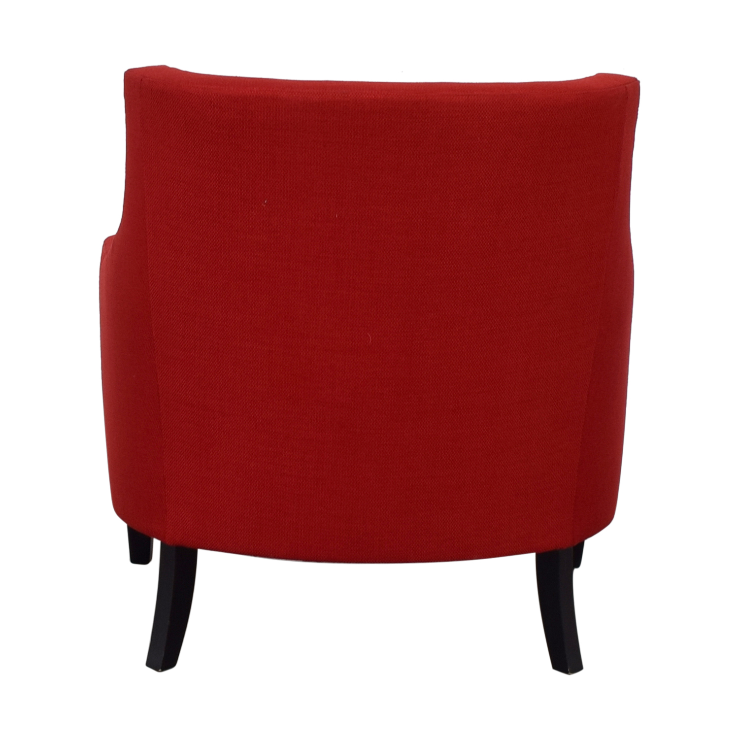 Crate & Barrel Crate & Barrel Red Fabric Accent Chair discount