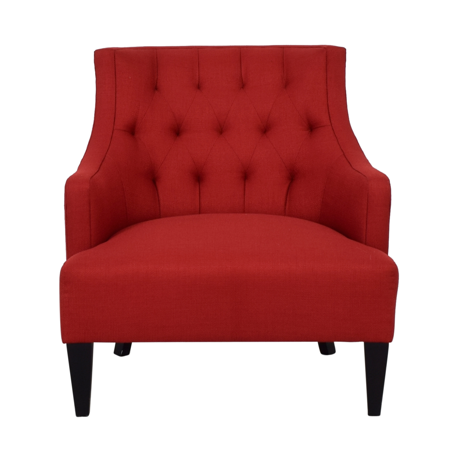 shop Crate & Barrel Red Fabric Accent Chair Crate & Barrel Chairs