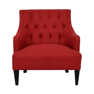 Crate & Barrel Crate & Barrel Red Fabric Accent Chair for sale