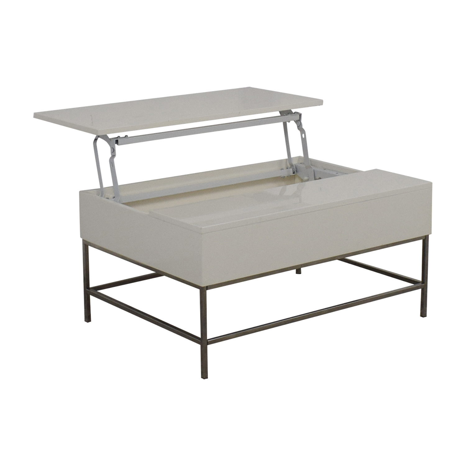West Elm West Elm Lift-Top White Coffee Table