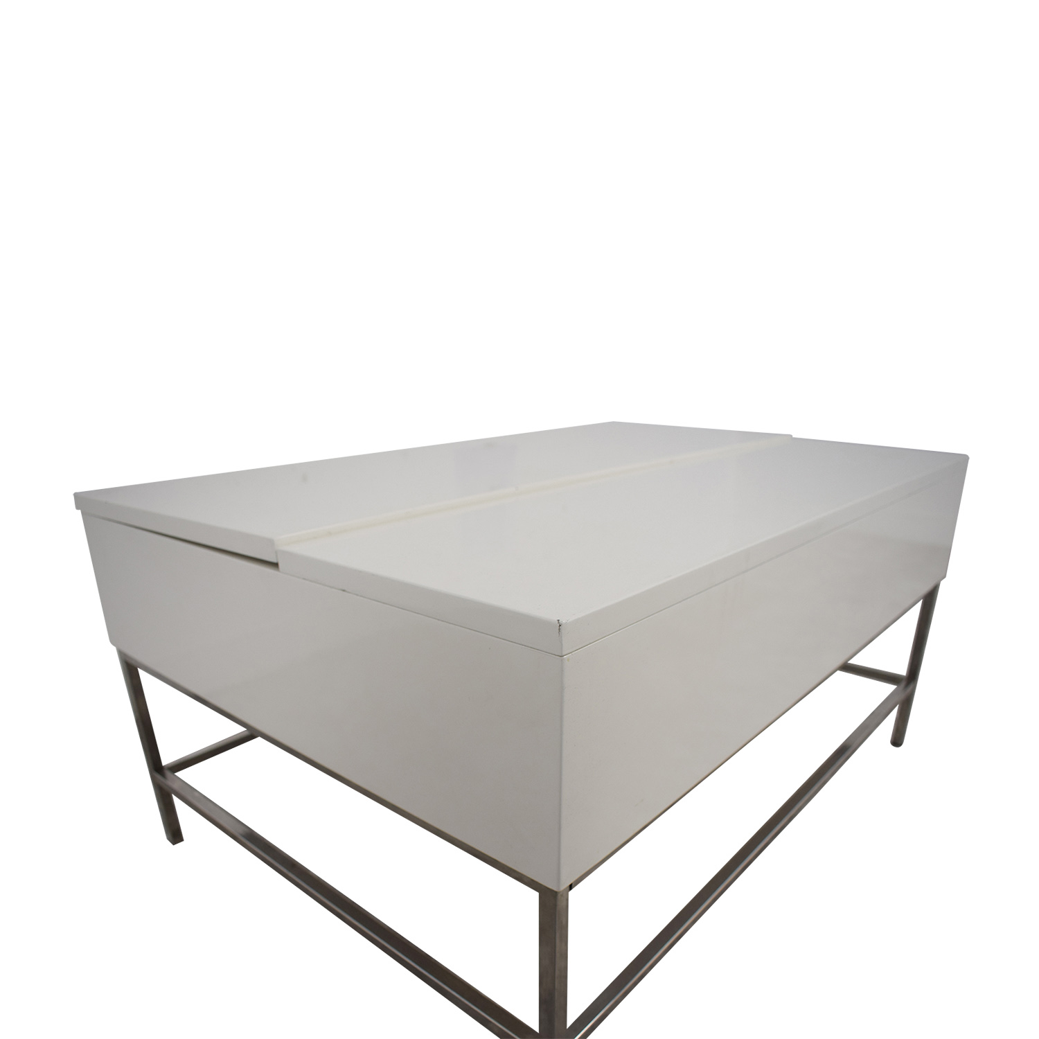 64 Off West Elm West Elm Lift Top White Coffee Table