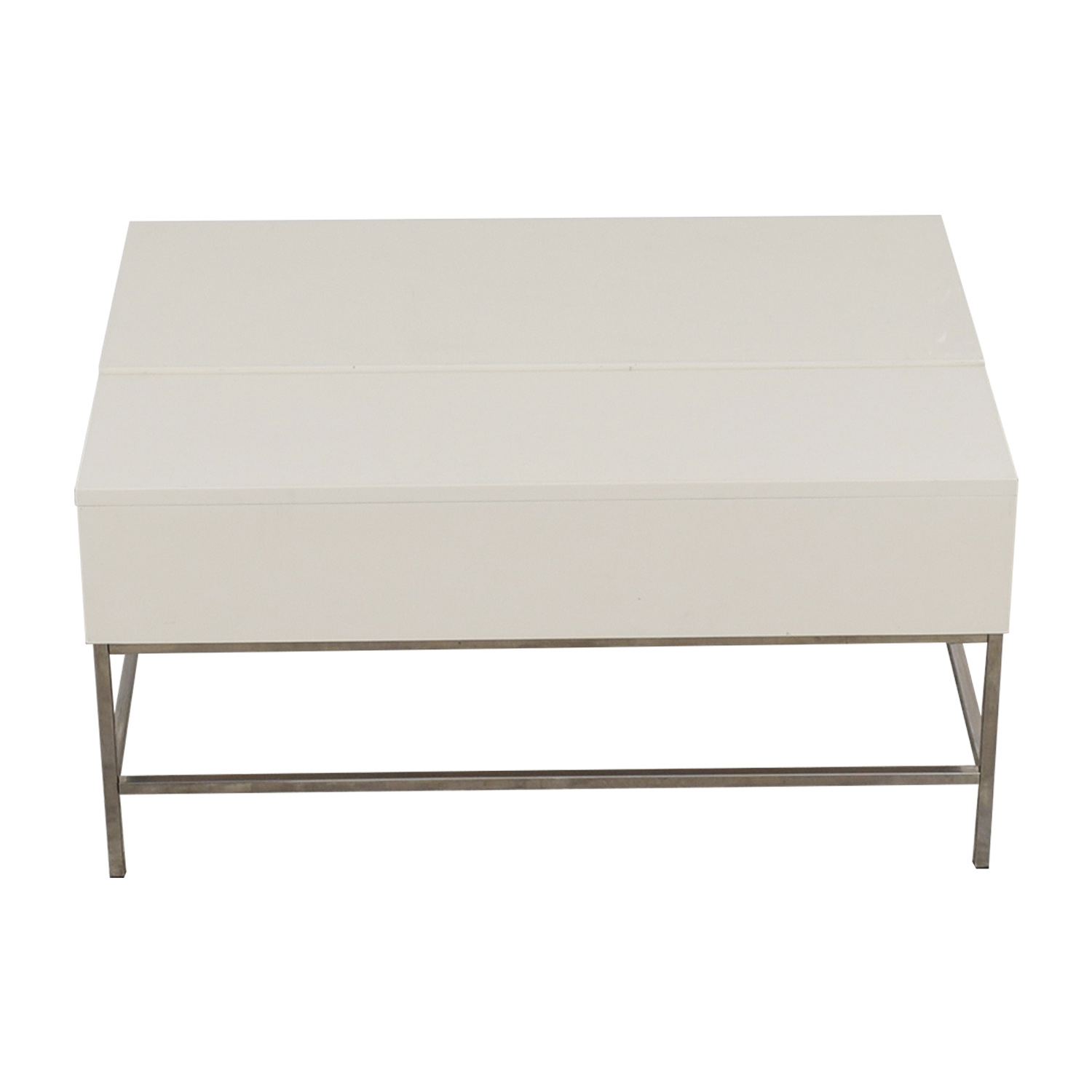 West Elm Lift Top White Coffee Table Tables