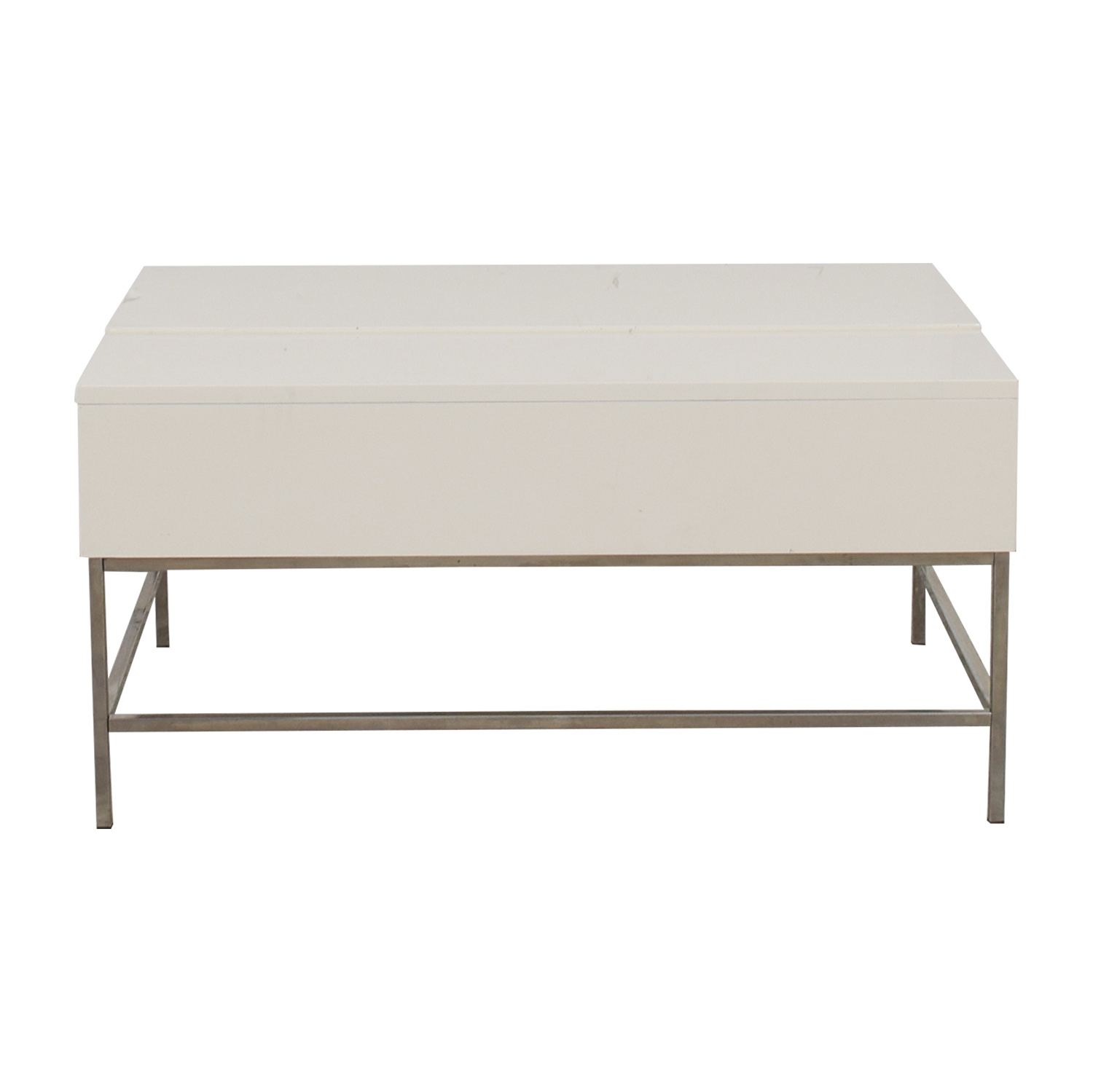 West Elm West Elm Lift-Top White Coffee Table Sofas
