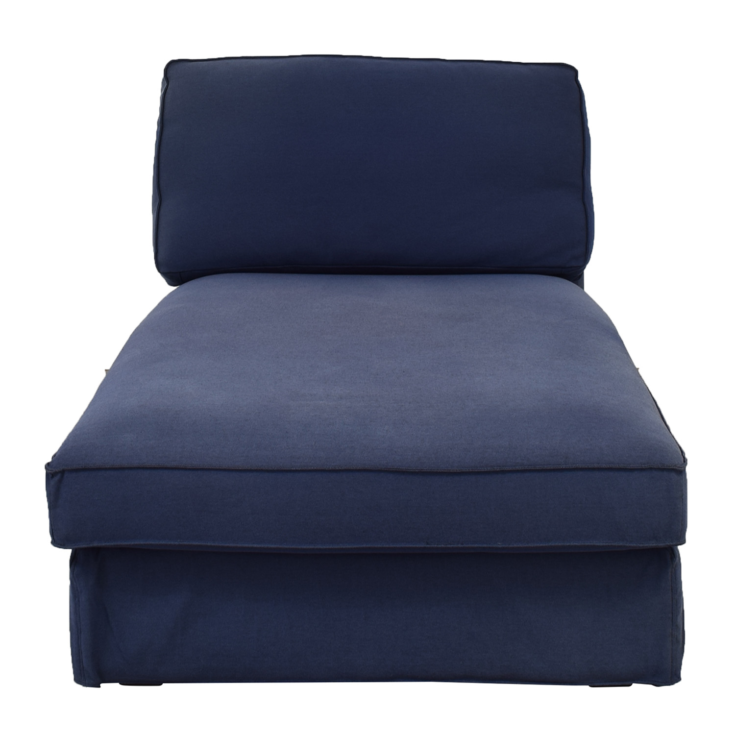 IKEA IKEA Blue Tweed Lounger used