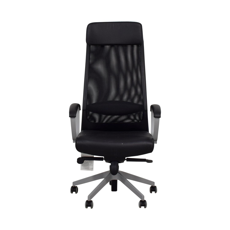 Brilliant 83 Off Ikea Ikea Black Adjustable Reclining Office Chair Chairs Creativecarmelina Interior Chair Design Creativecarmelinacom