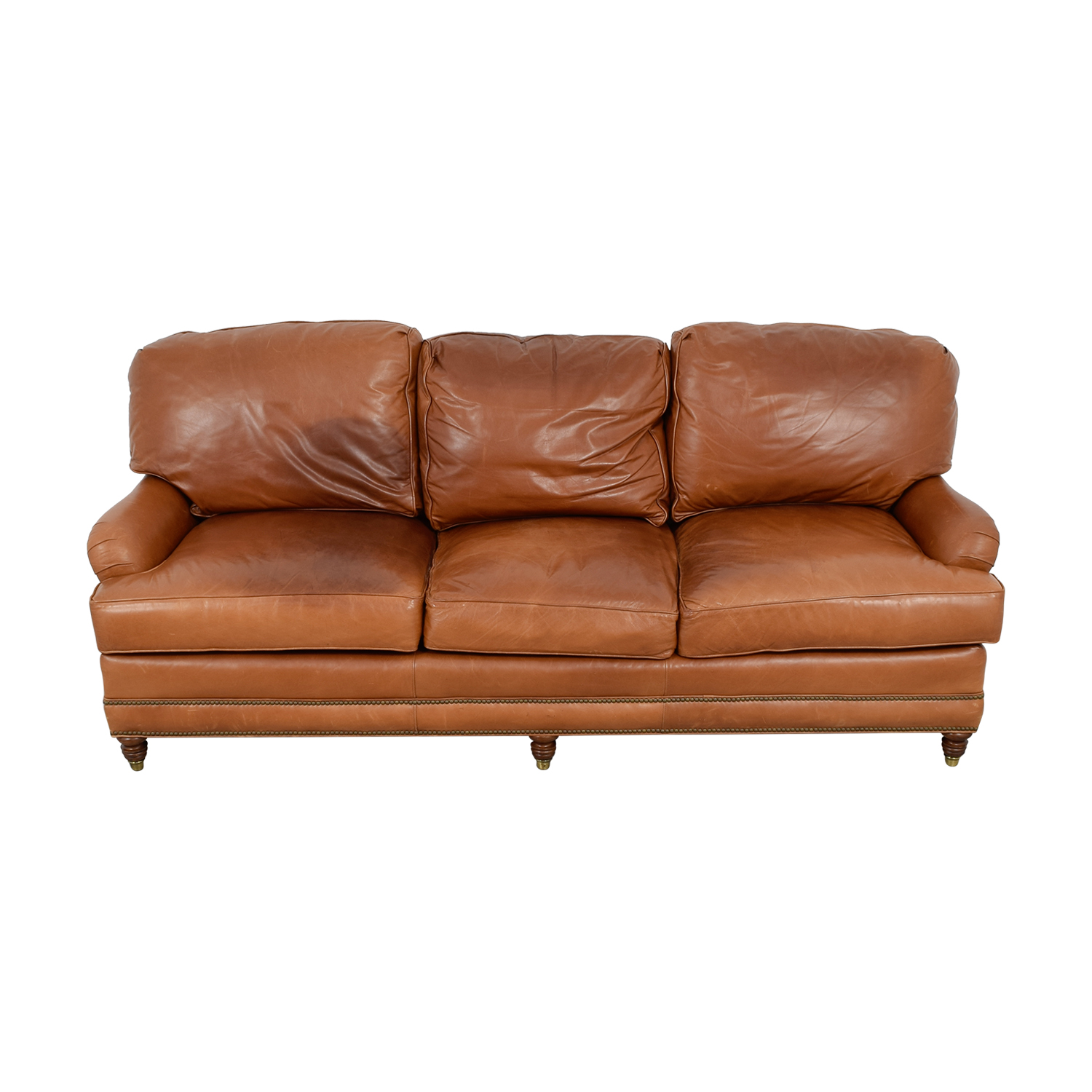 shop Whittemore-Sherrill Whittemore-Sherrill Brown Leather Sofa online
