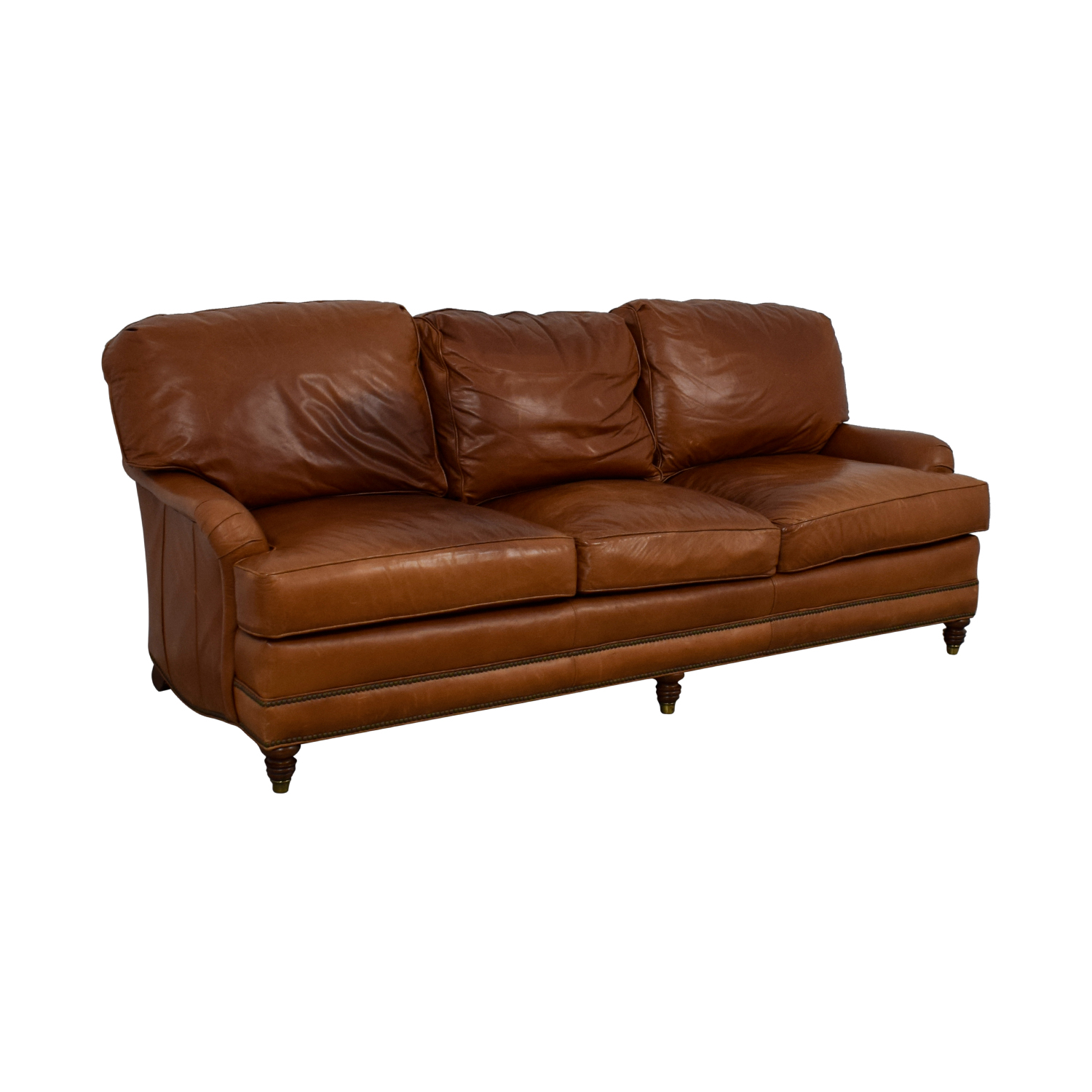 90 Off Whittemore Sherrill Whittemore Sherrill Brown Leather Sofa