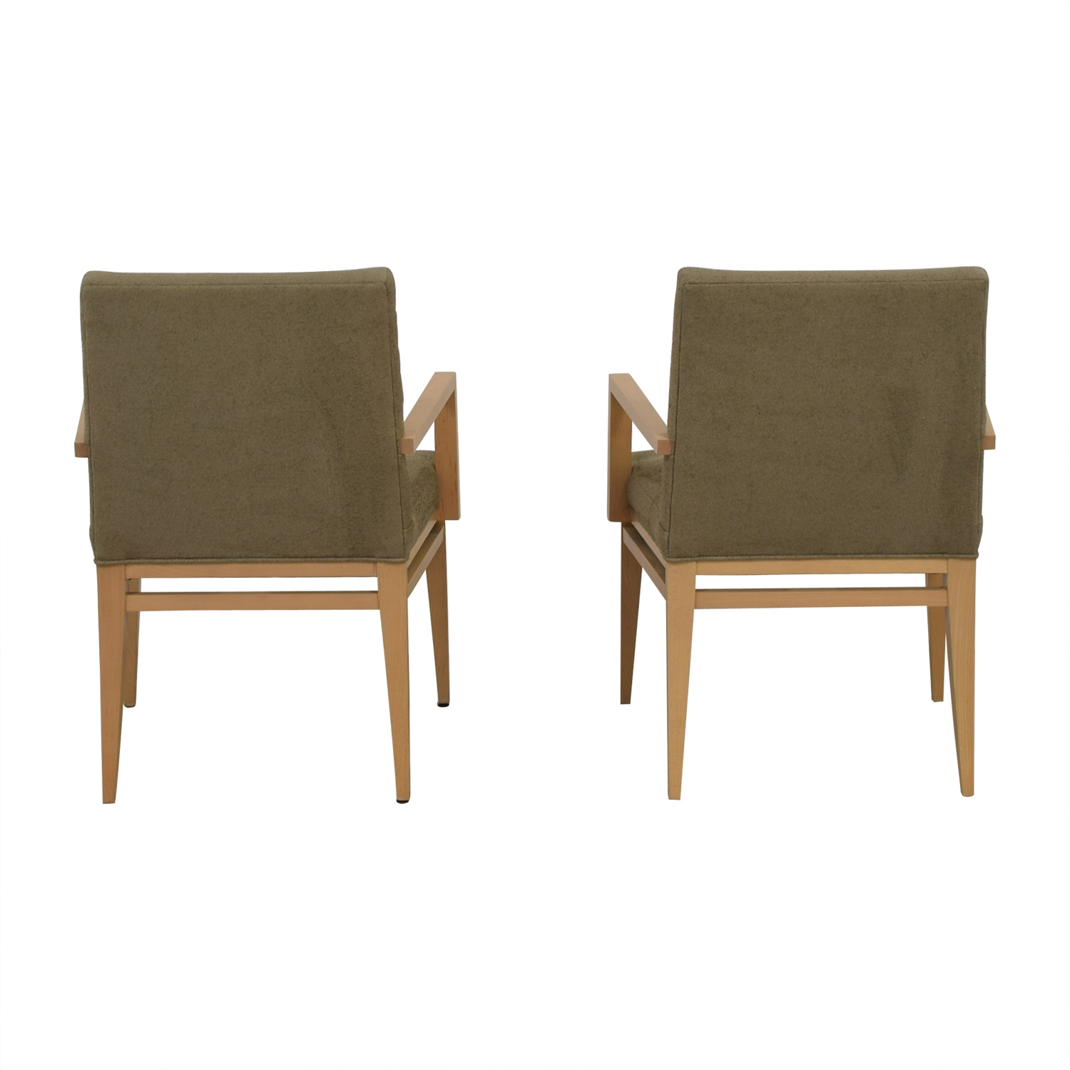 HBF HBF Newport Wood and Fabric Arm Chairs dimensions
