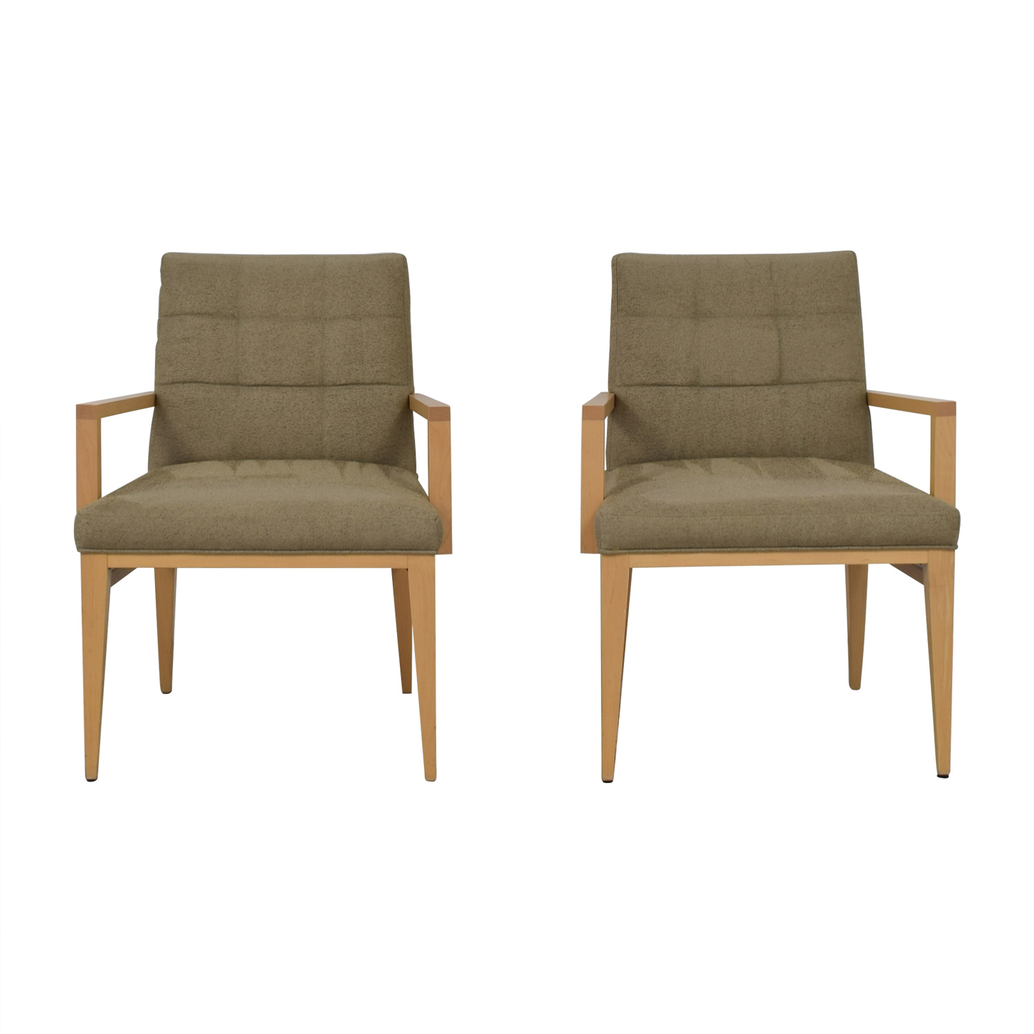 90 Off Hbf Hbf Newport Wood And Fabric Arm Chairs Chairs