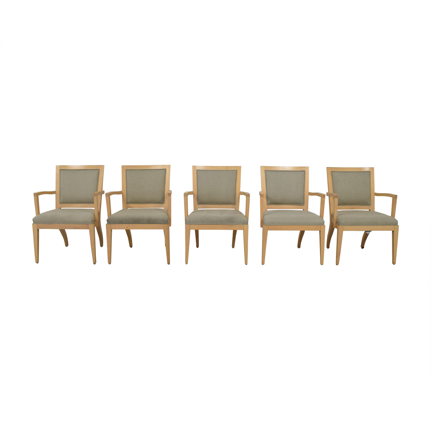 90 Off Hbf Hbf Newport Grey Arm Chairs Chairs