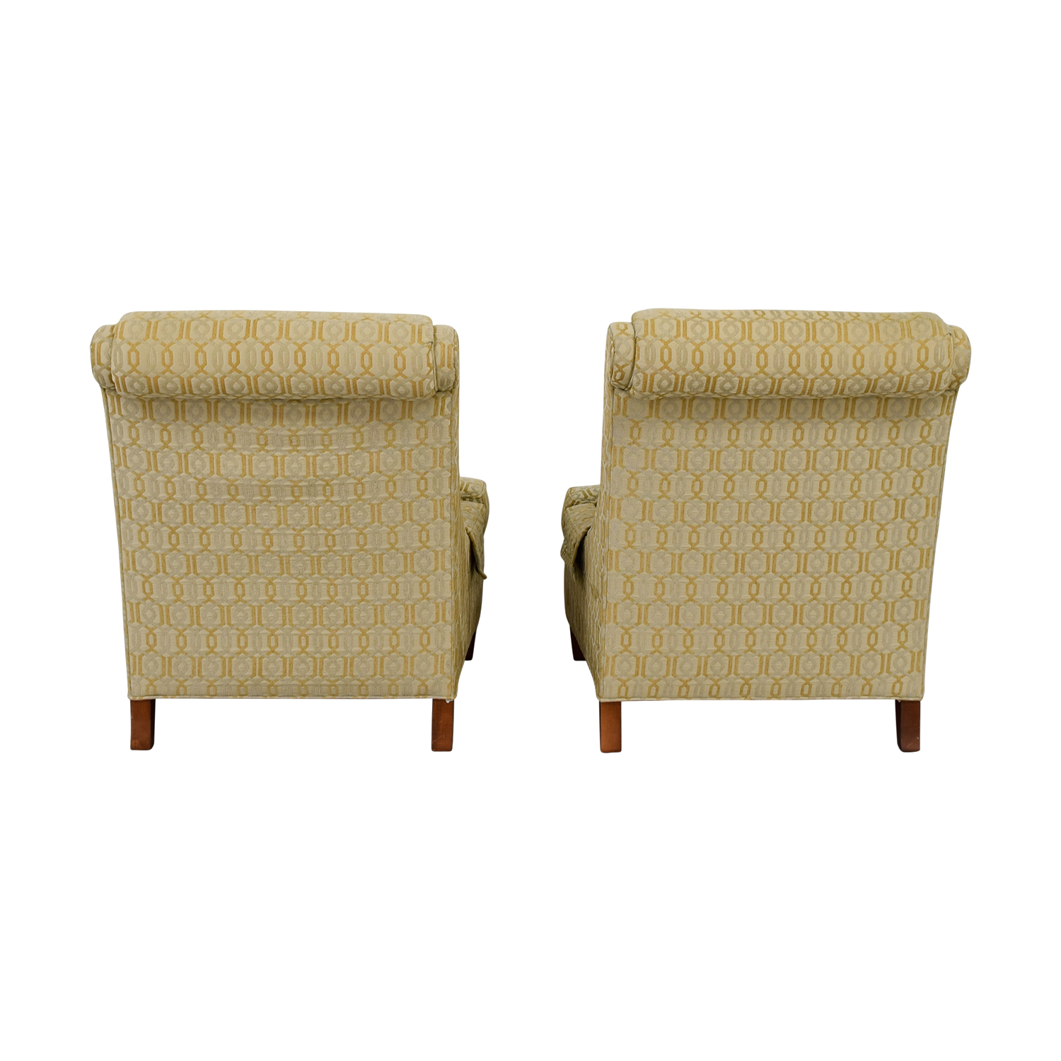 Jessica McClintock Home Jessica McClintock Home Beige Multi-Colored Upholstered Wing Accent Chairs nyc