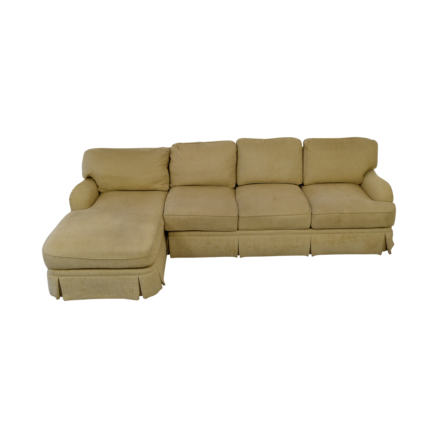 shop C R Laine Beige Skirted Chaise Sectional C R Laine Sectionals