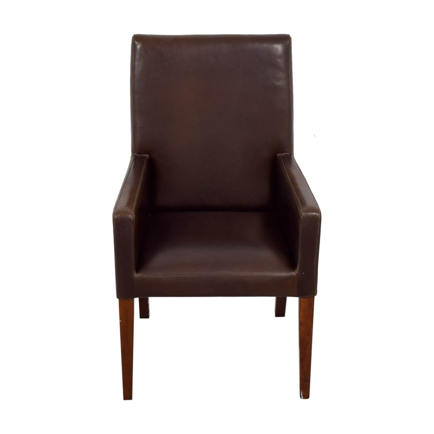 90 Off Pottery Barn Pottery Barn Brown Leather Chair