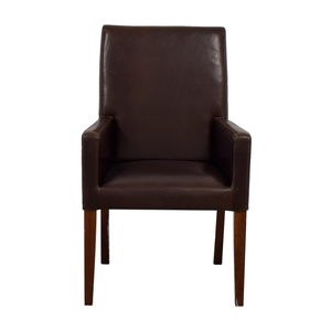 Pottery Barn Pottery Barn Brown Leather Chair coupon
