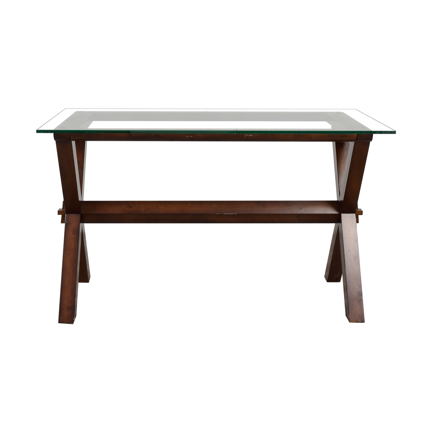 5% OFF - Pottery Barn Pottery Barn Glass and Wood Desk / Tables