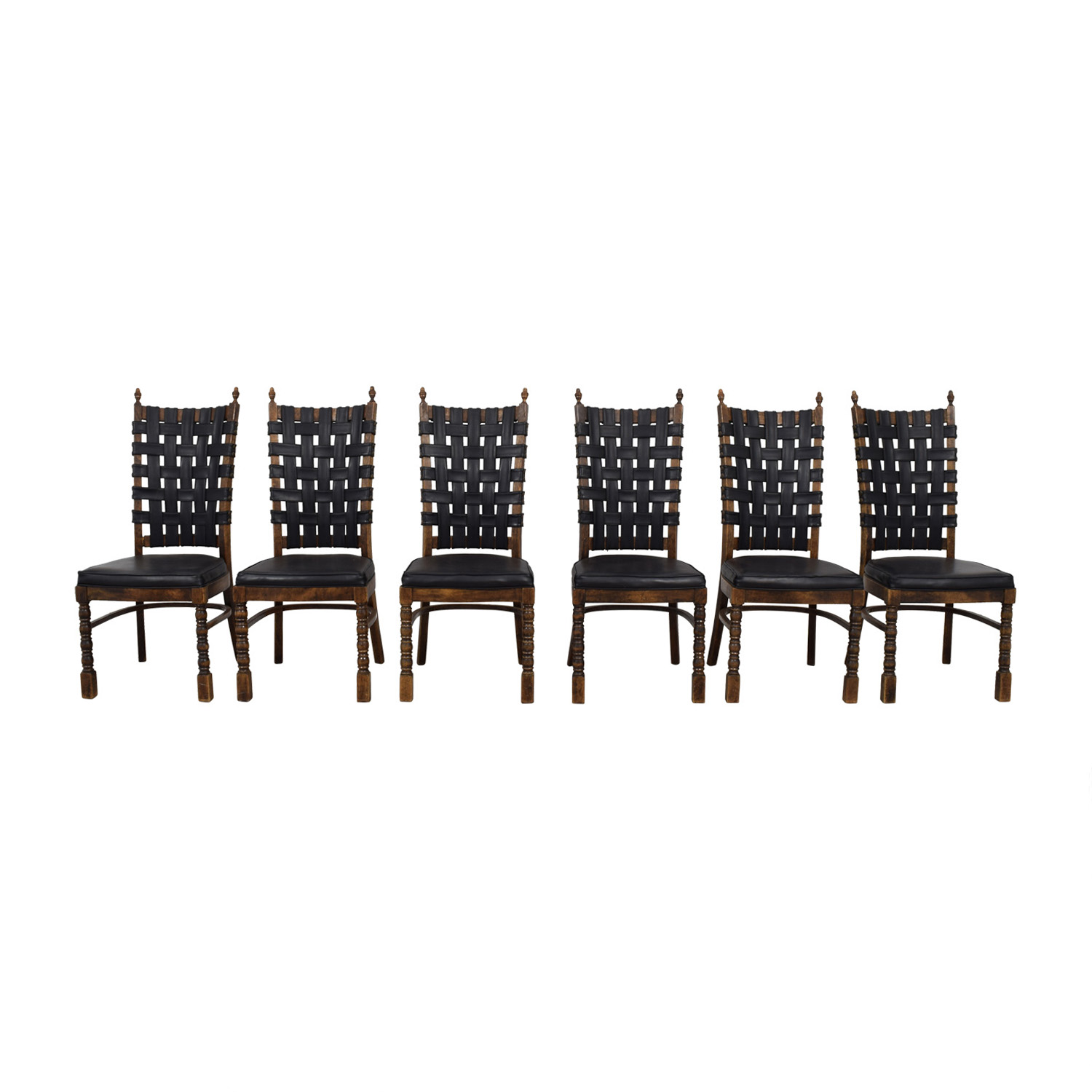 Bloomingdales Wooden Chair Set / Sofas
