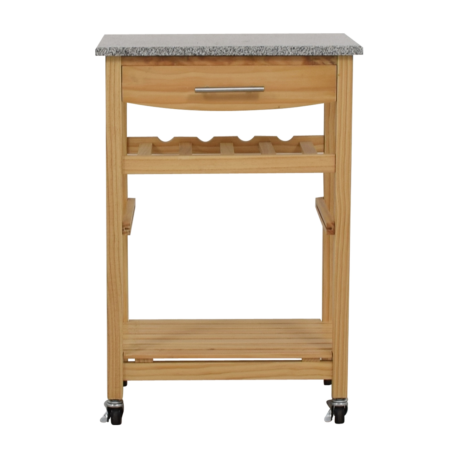 World Market Natural Kitchen Cart with Counter Top / Utility Tables