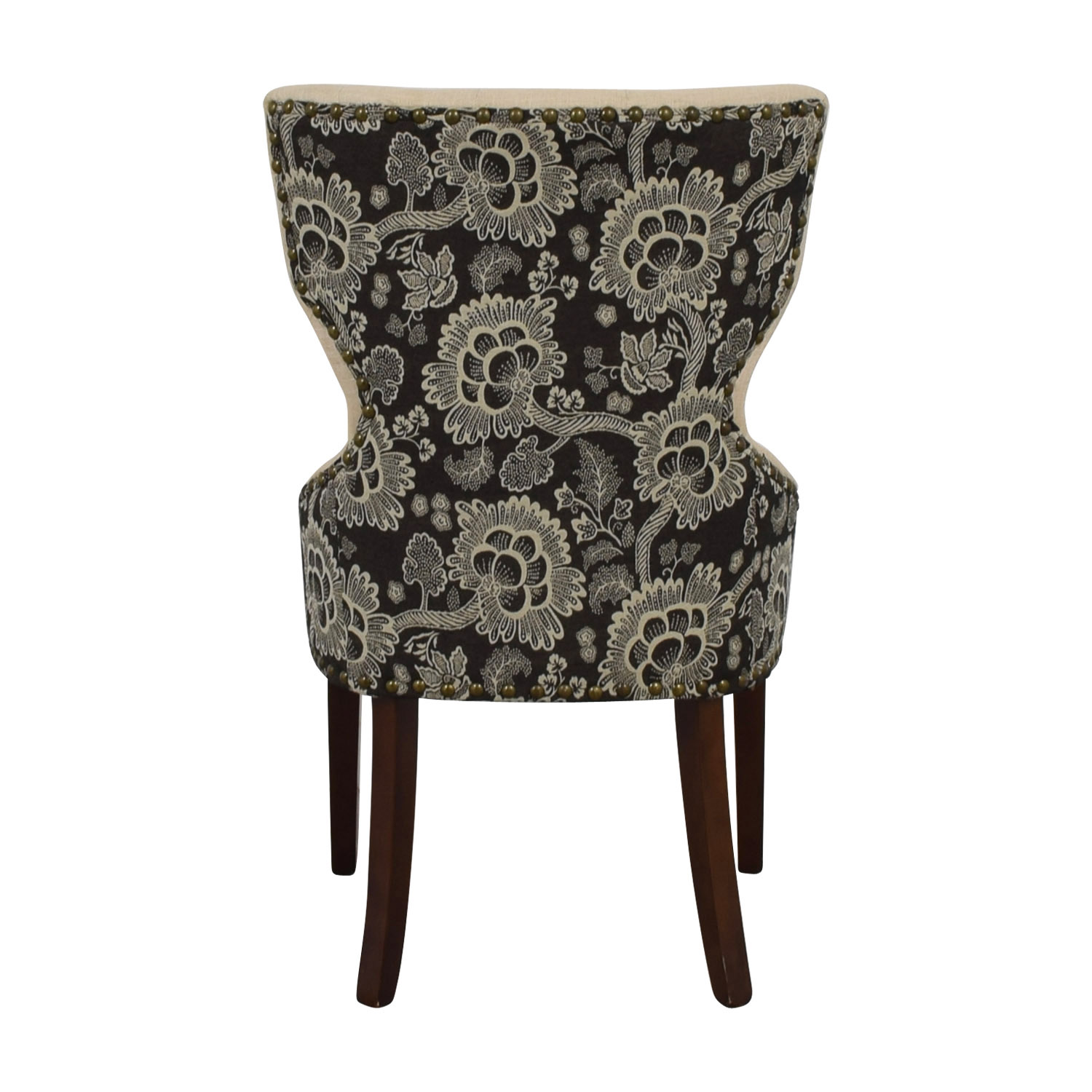 World Market World Market Beige Wingback Accent Chair Accent Chairs