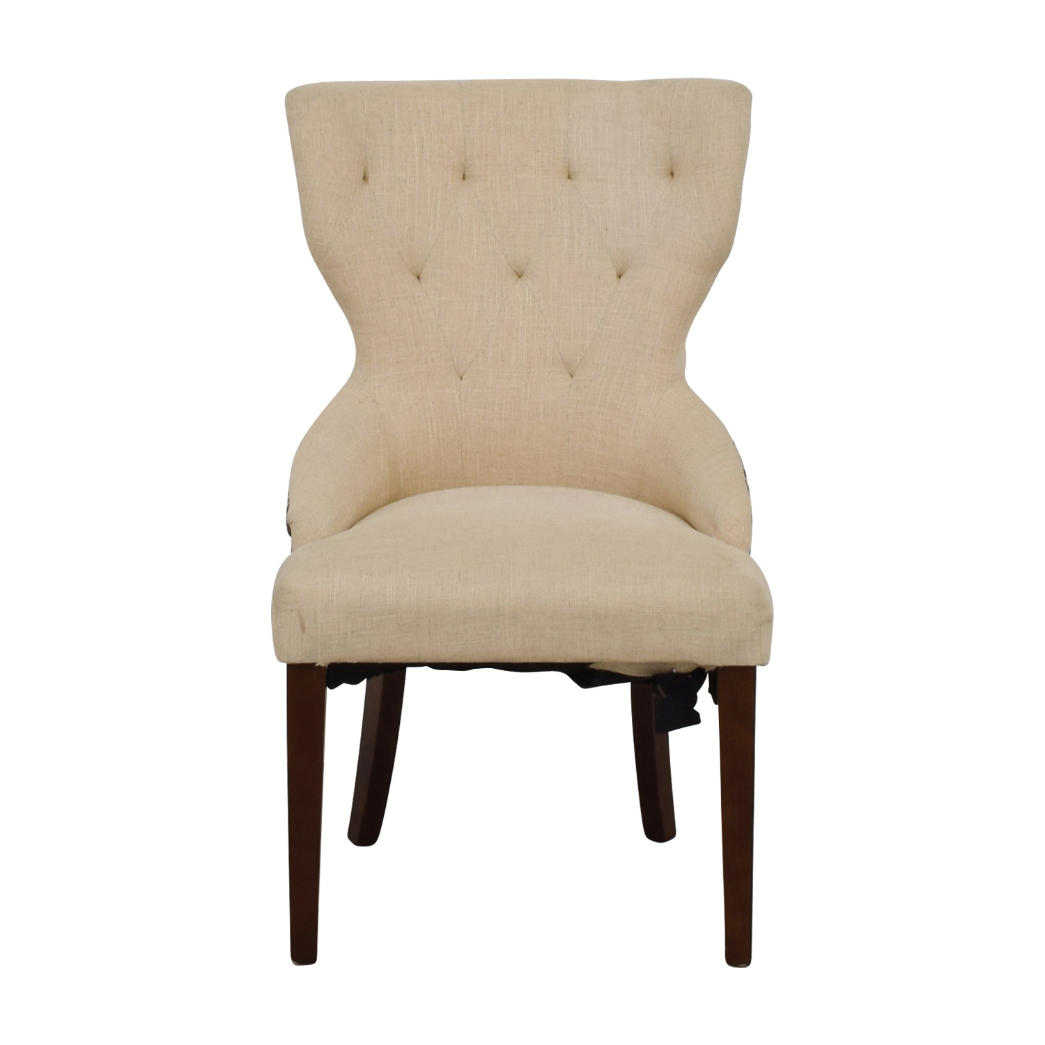 World Market World Market Beige Wingback Accent Chair used
