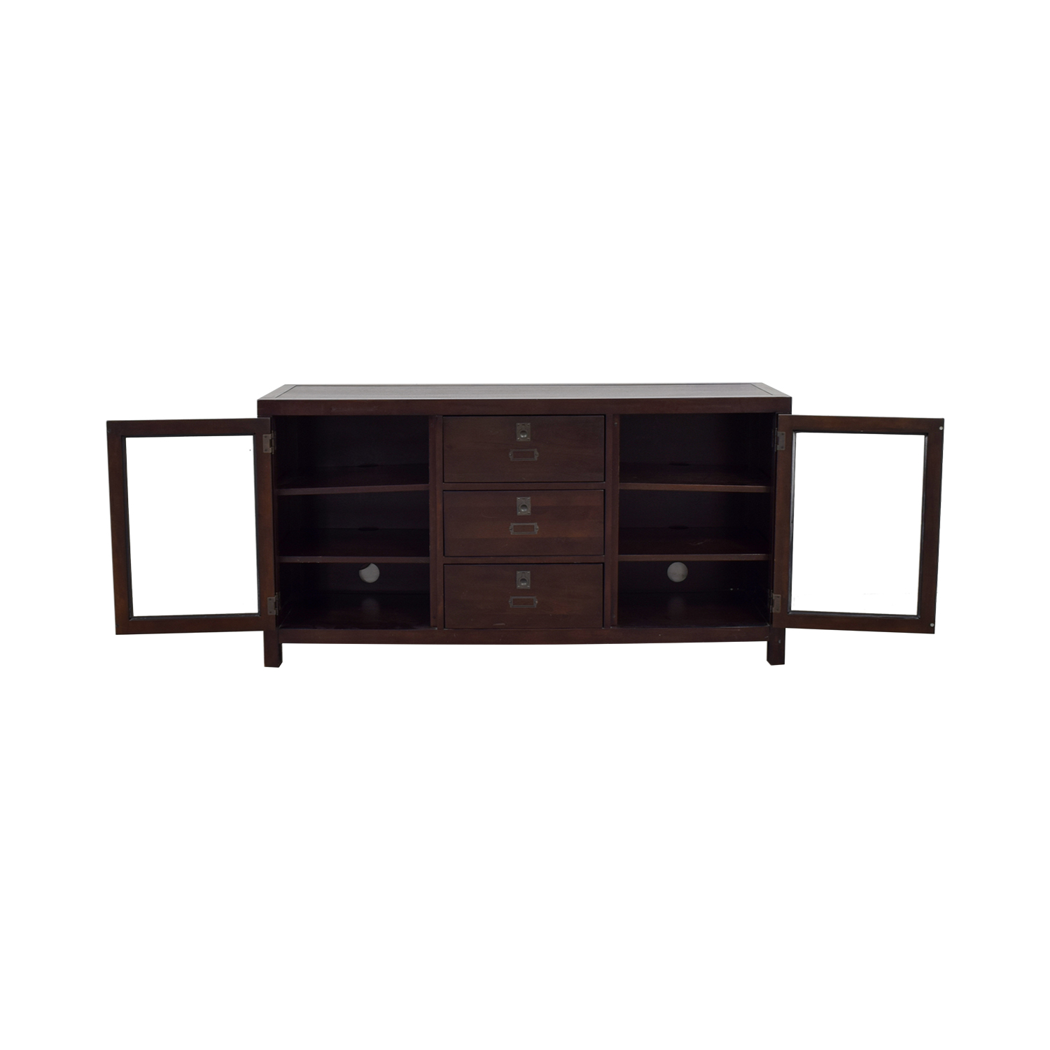 Pottery Barn Pottery Barn Media Console With Glass Curios nyc