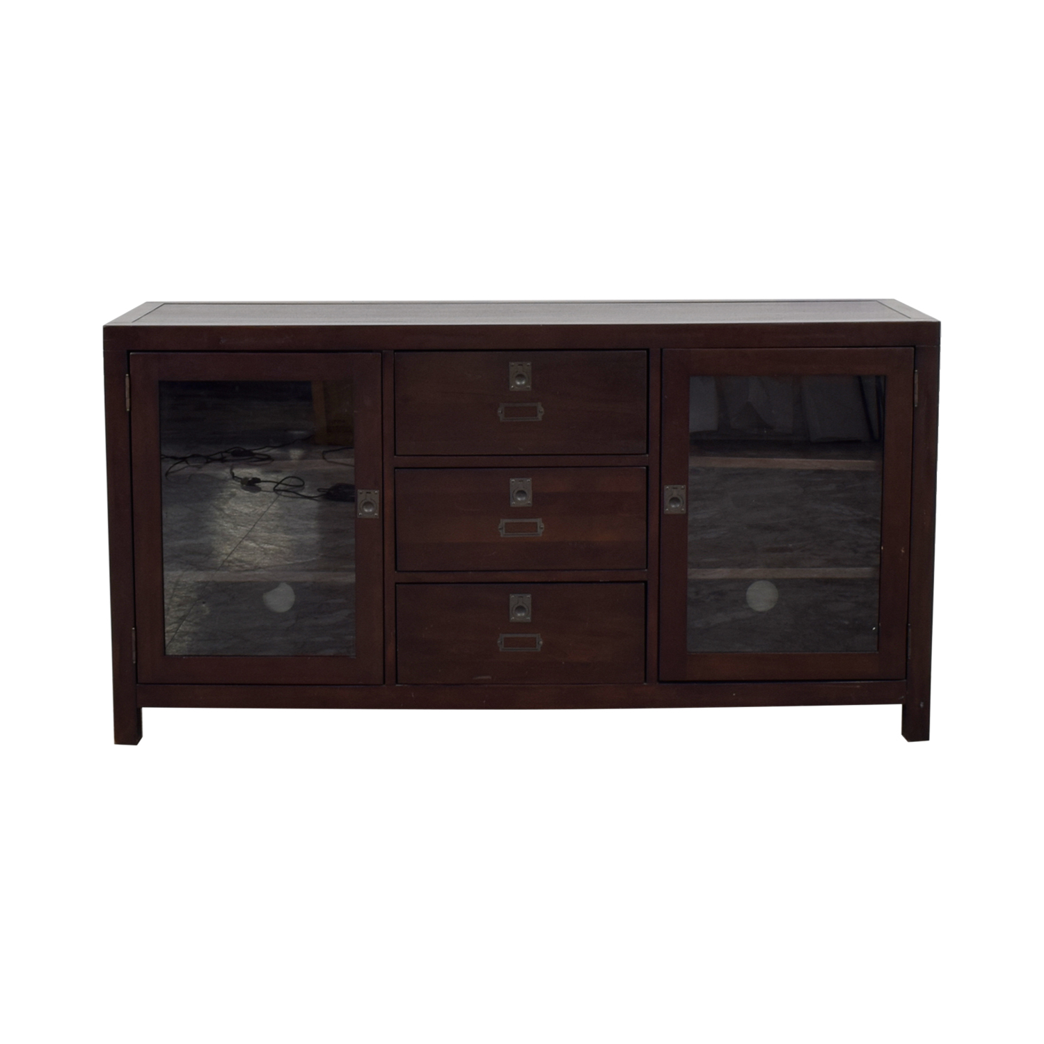 Pottery Barn Pottery Barn Media Console With Glass Curios coupon