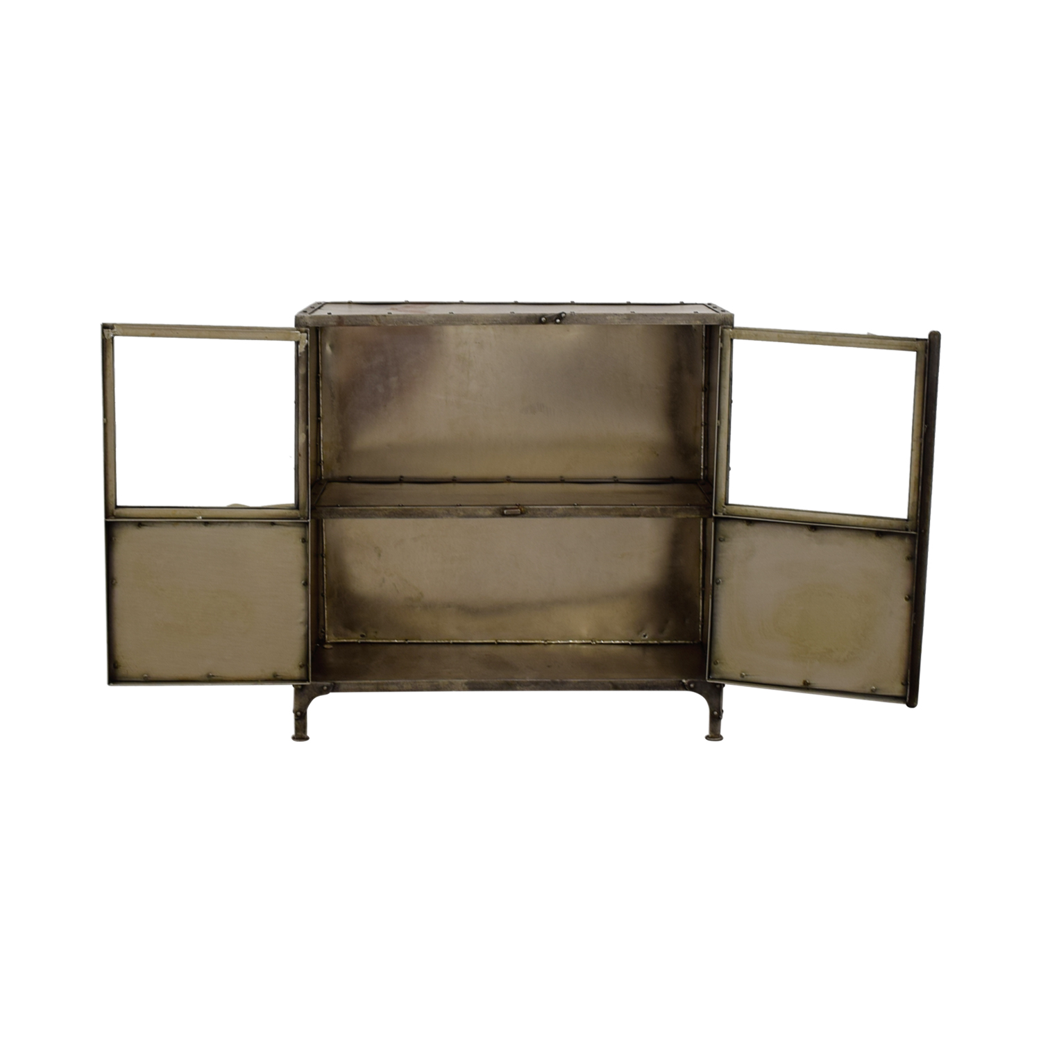 shop Horchow Industrial Metal Cabinet Horchow Storage