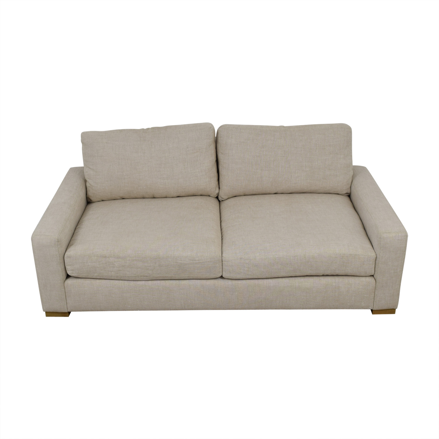 shop Restoration Hardware Maxwell Beige Two-Cushion Sofa Restoration Hardware Sofas