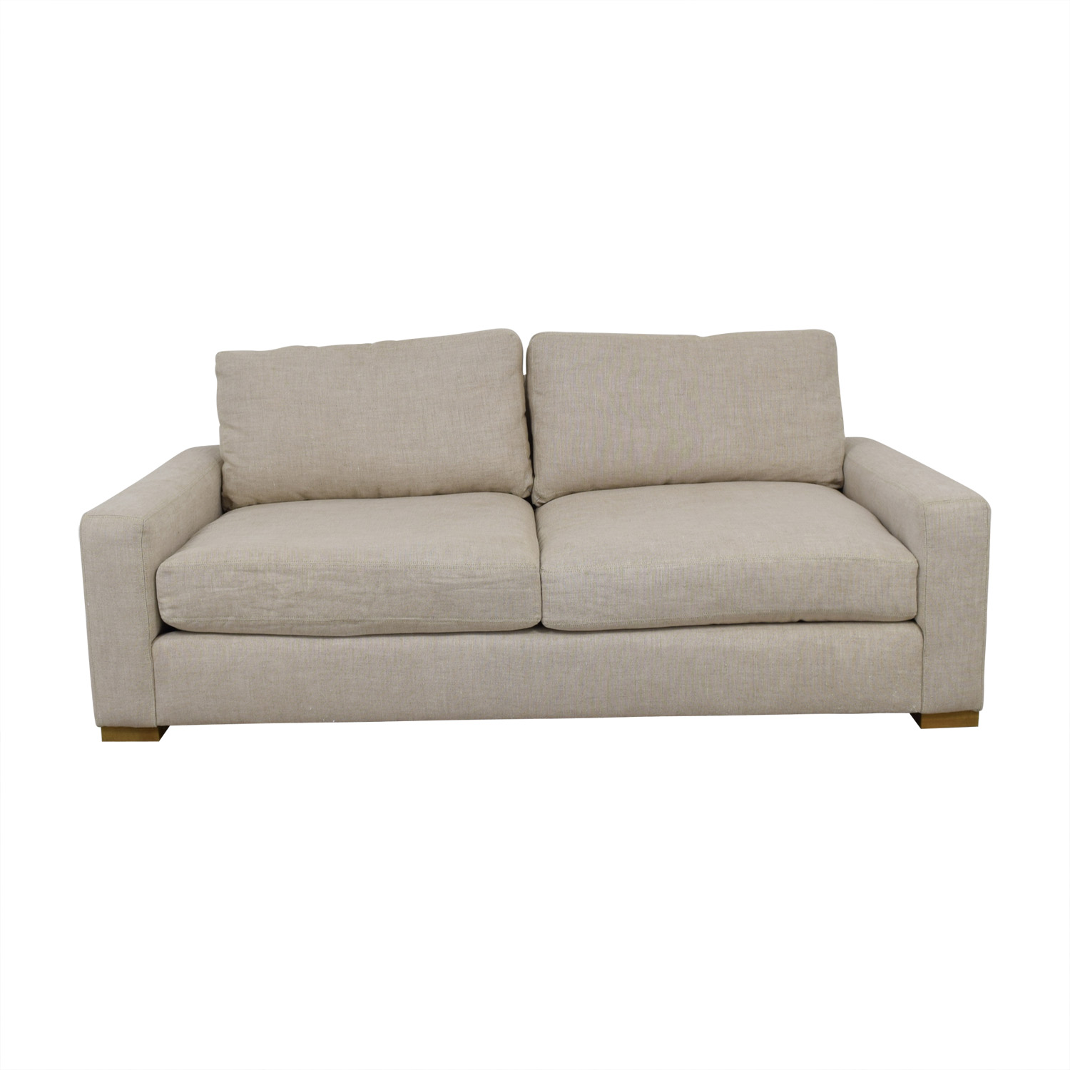 Restoration Hardware Restoration Hardware Maxwell Beige Two-Cushion Sofa