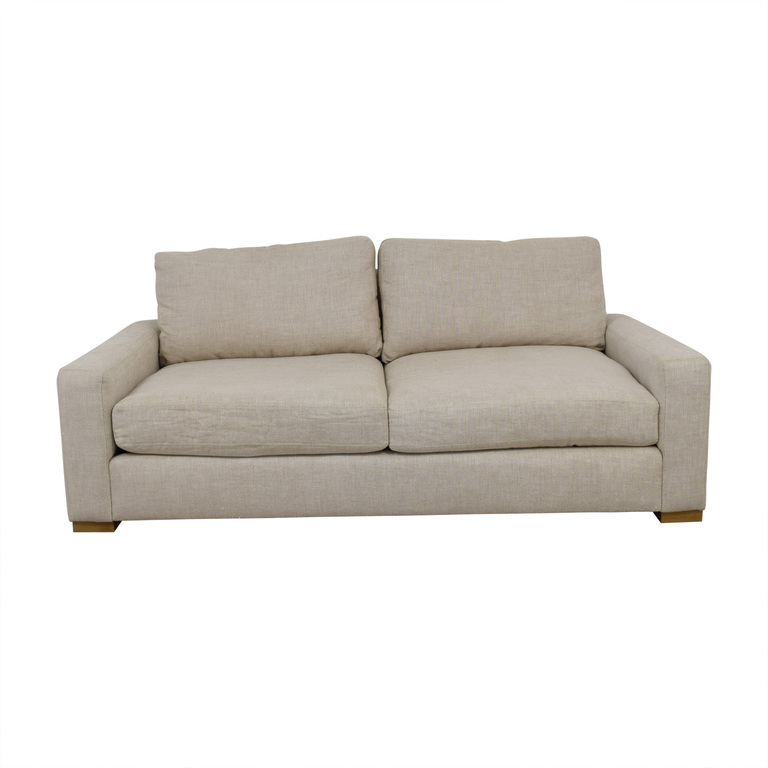 Restoration Hardware Maxwell Beige Two-Cushion Sofa Restoration Hardware