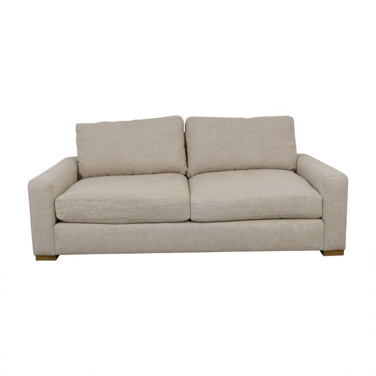 Restoration Hardware Maxwell Beige Two-Cushion Sofa Restoration Hardware