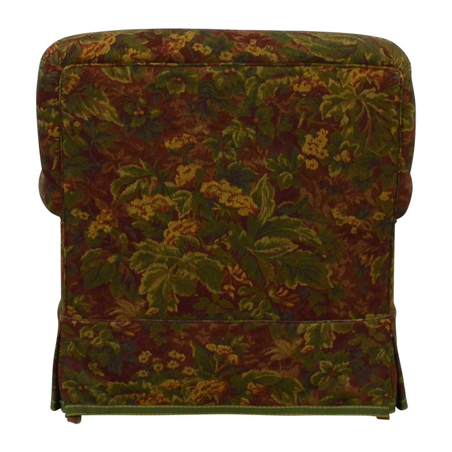 Down Filled Floral Accent Chair and Ottoman on sale