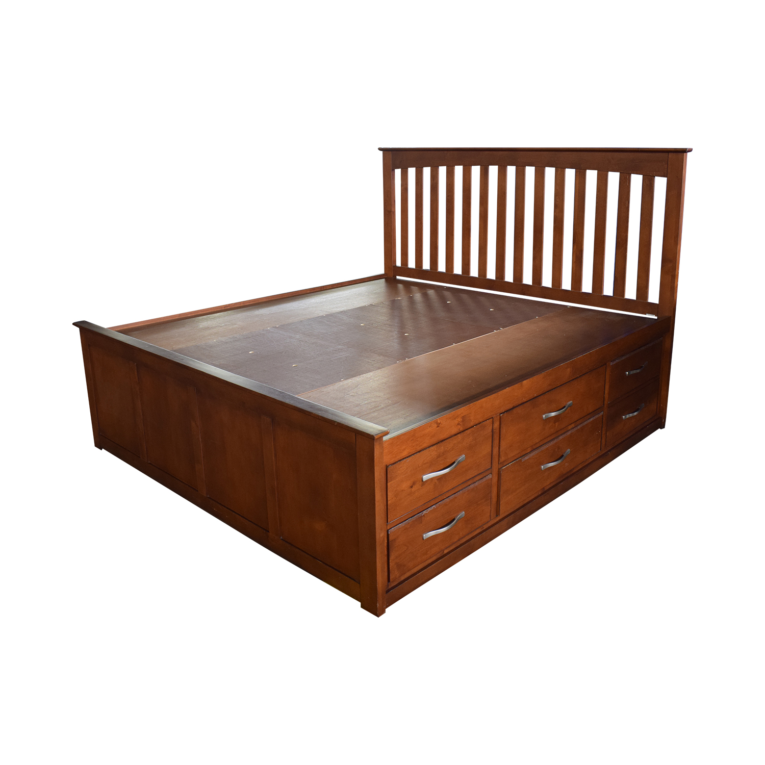 Raymour & Flanigan King Platform Bed Frame with Storage Drawers sale