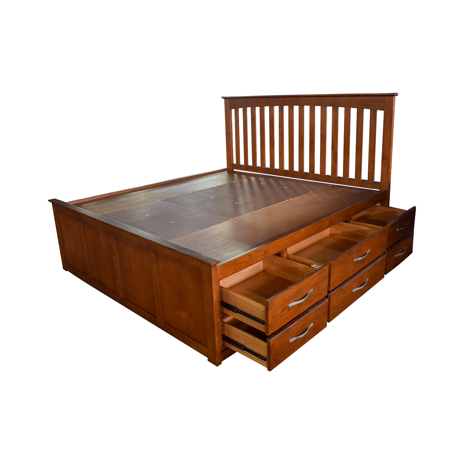 Raymour & Flanigan Raymour & Flanigan King Platform Bed Frame with Storage Drawers nyc