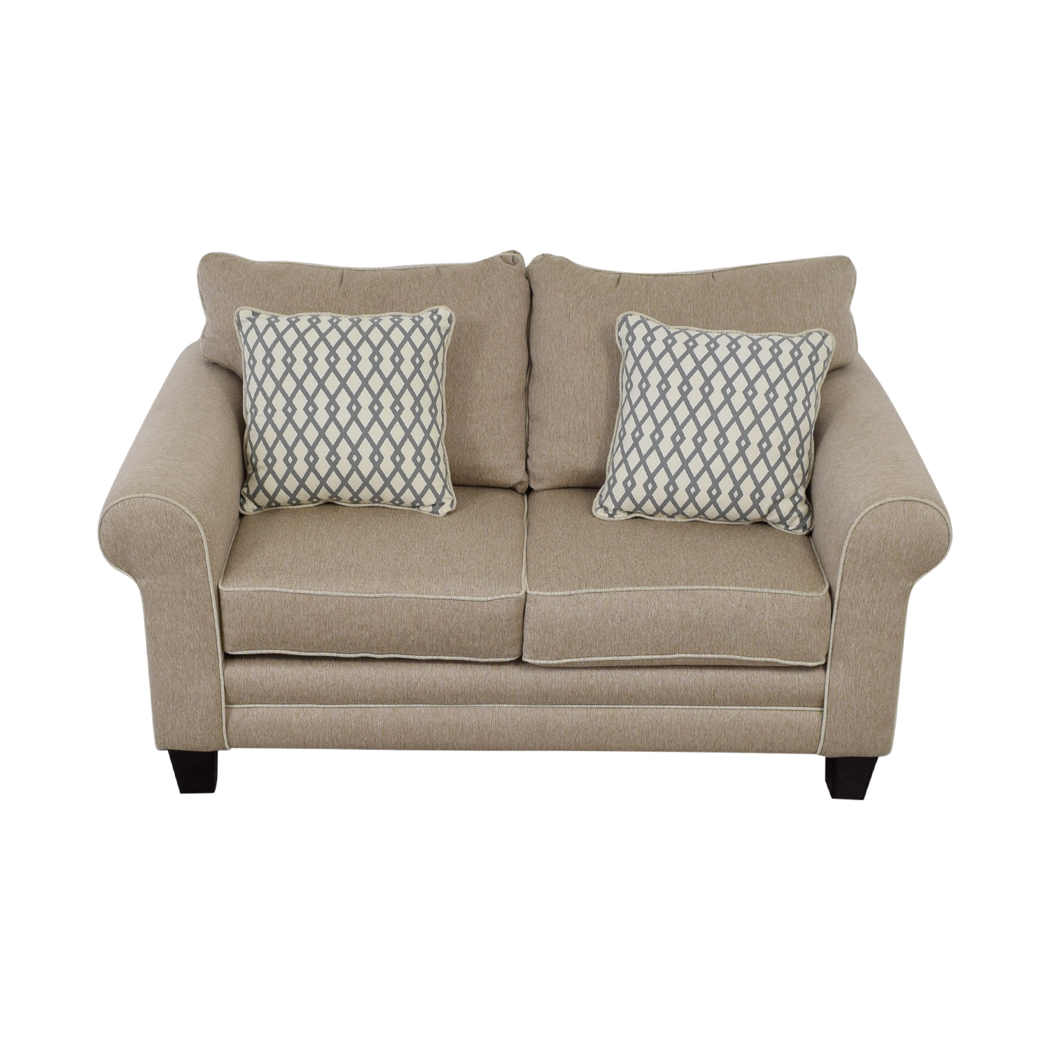 buy Raymour & Flanigan Beige Loveseat Raymour & Flanigan