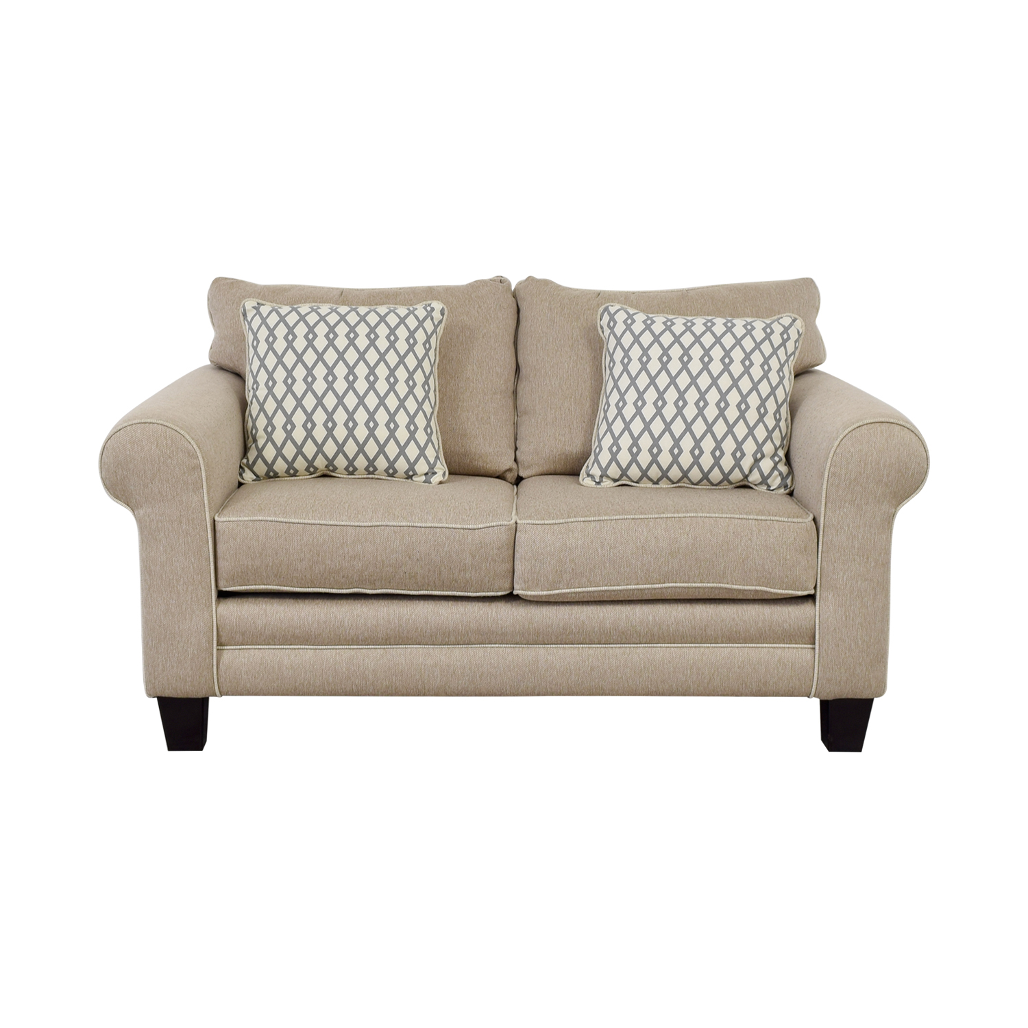 Raymour & Flanigan Raymour & Flanigan Beige Loveseat on sale