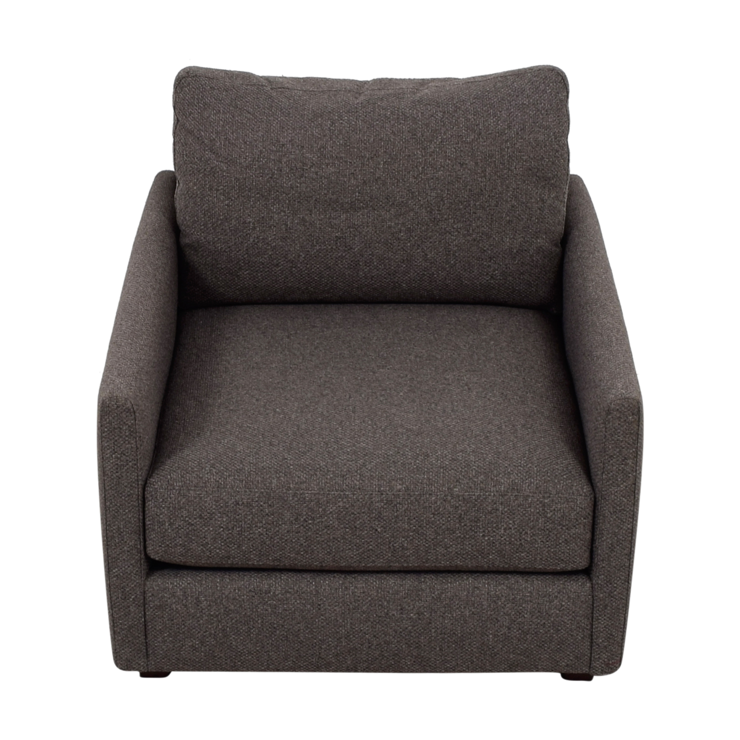 Miraculous 70 Off Crate Barrel Crate Barrel Love Grey Accent Chair Chairs Bralicious Painted Fabric Chair Ideas Braliciousco