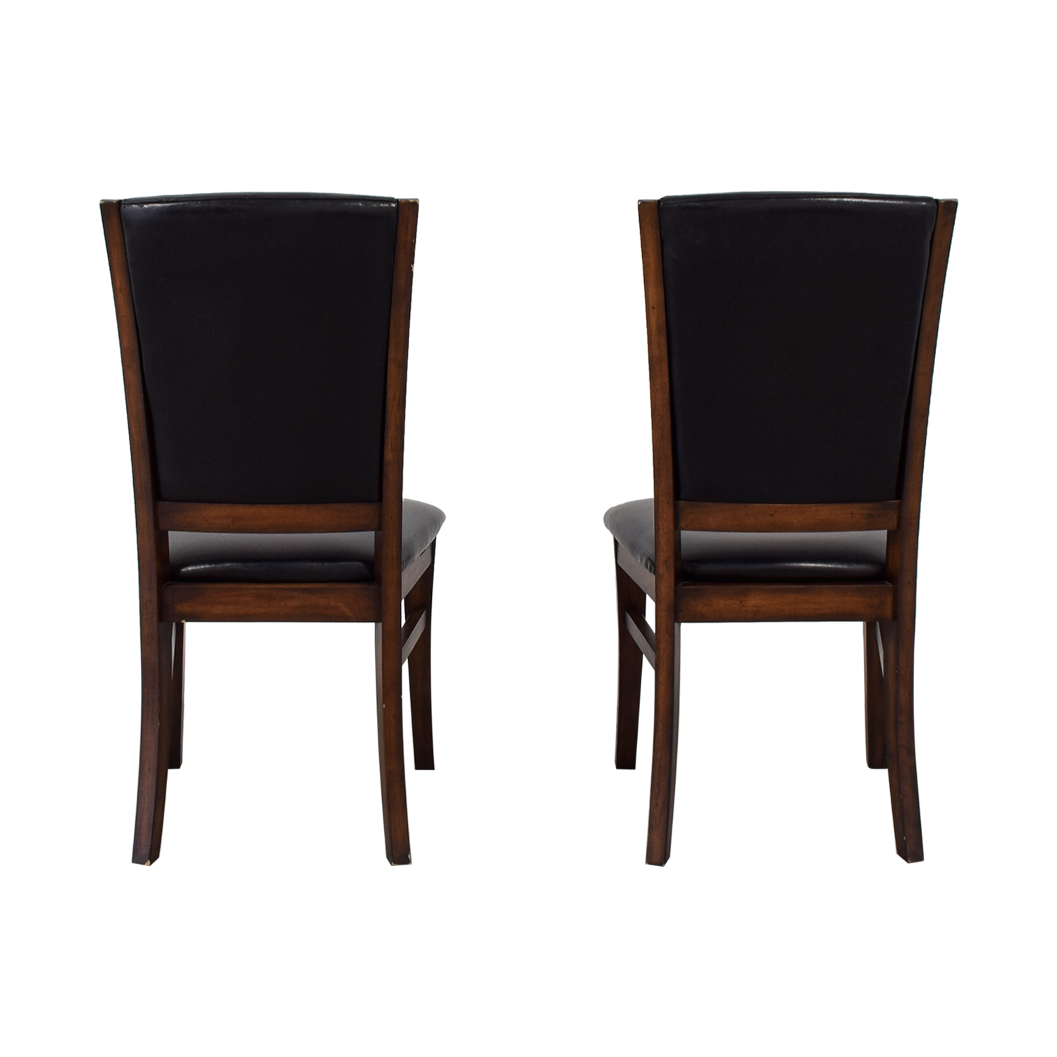 Leather and Wood Dining Chairs discount
