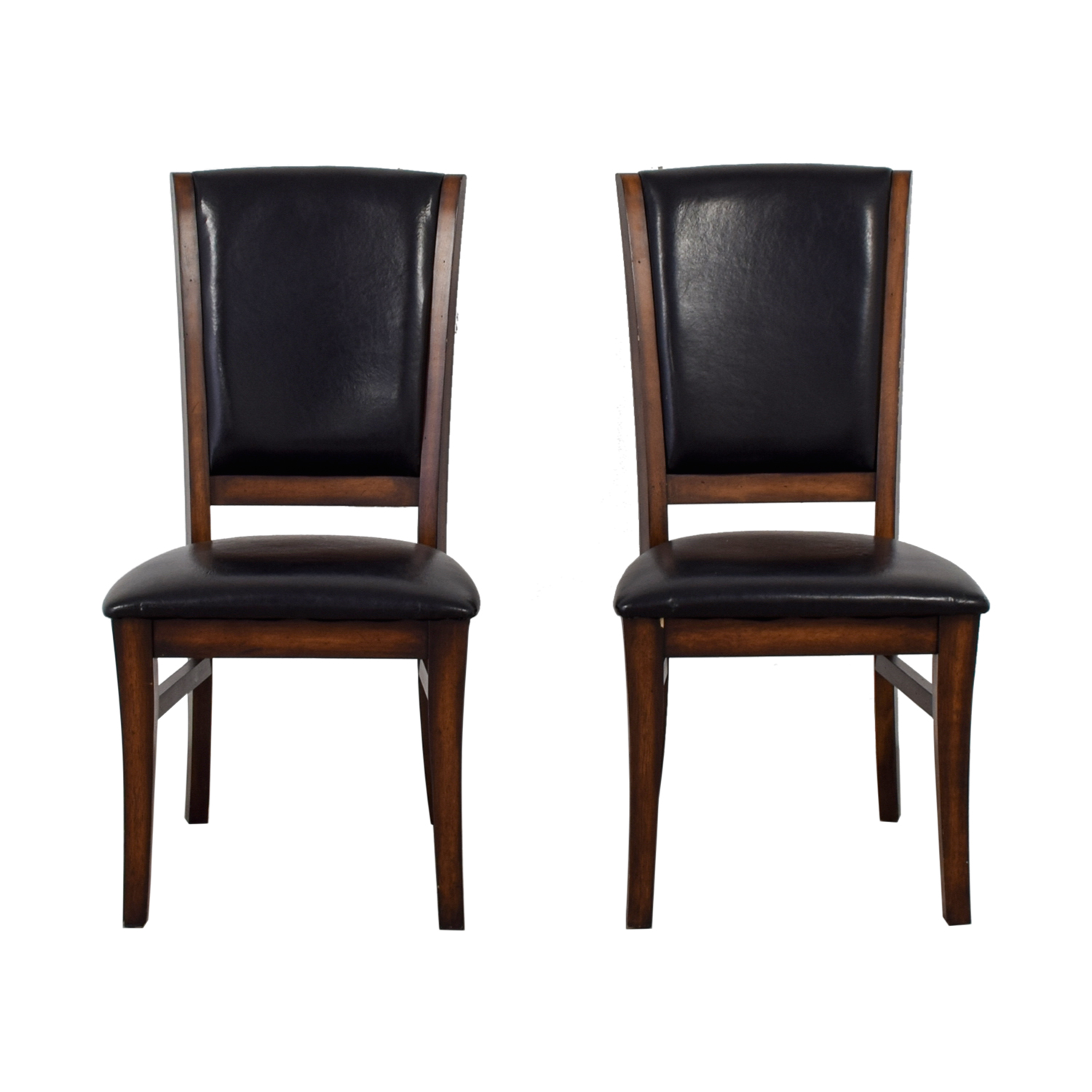 Leather and Wood Dining Chairs second hand