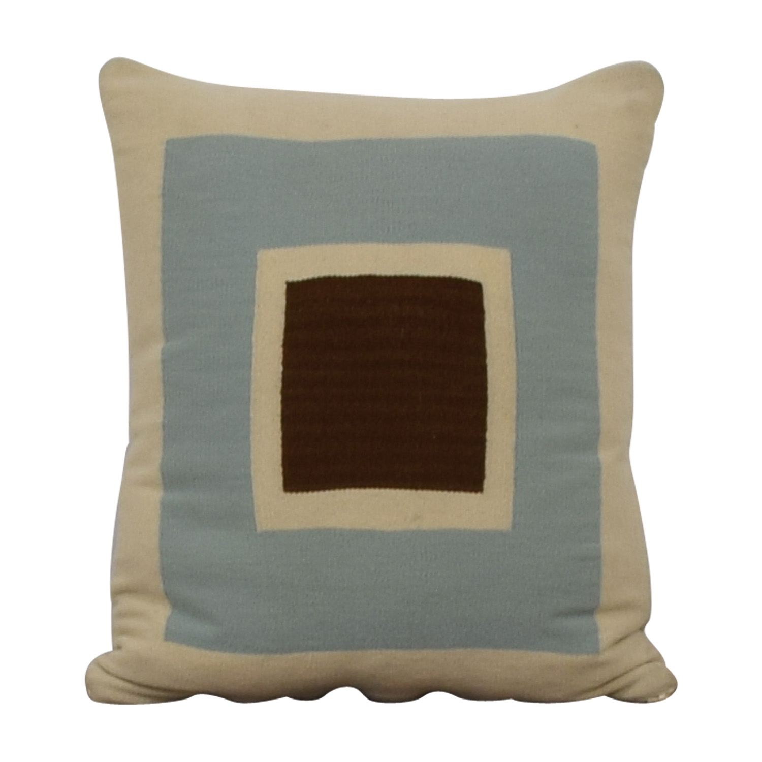 shop Jonathan Adler Jonathan Adler Reversible Beige Brown and Blue Pillow online