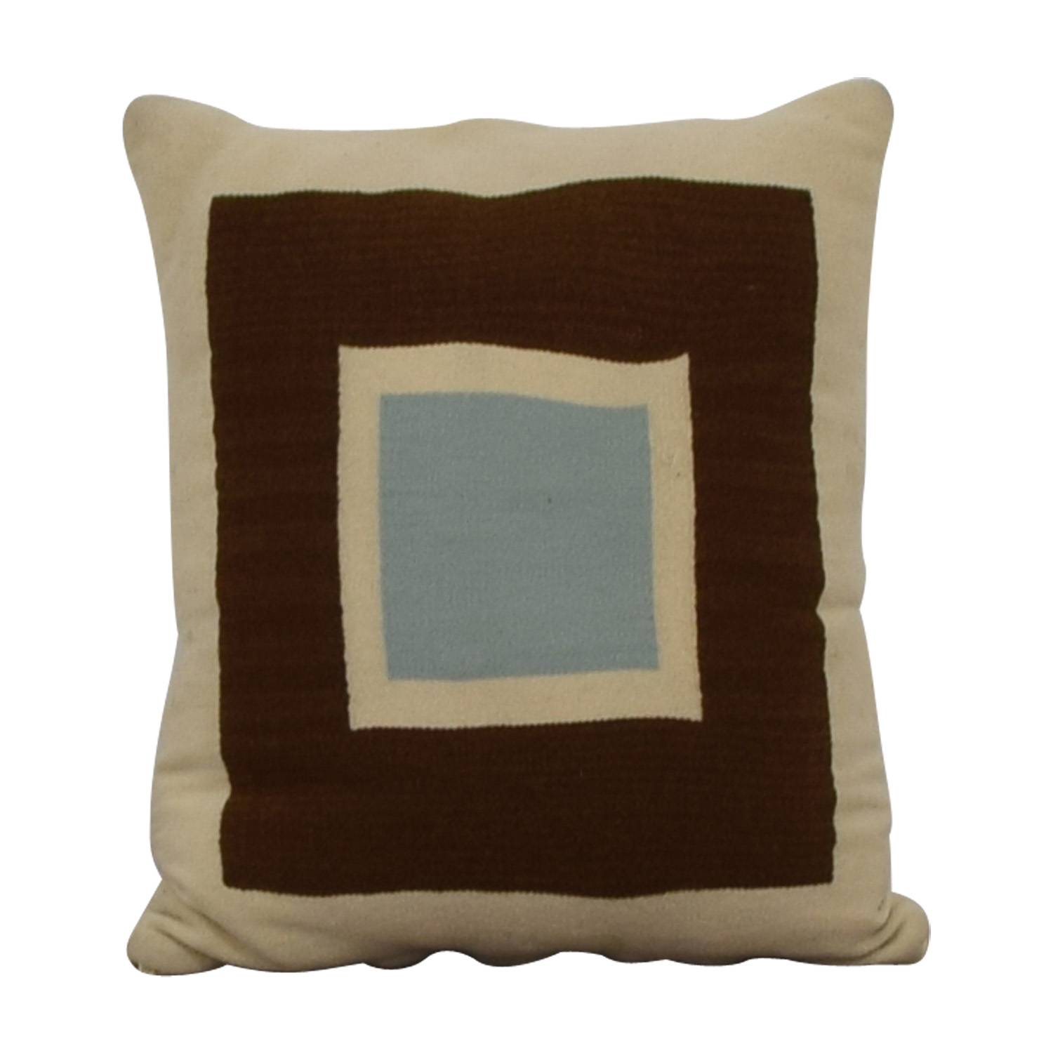 Jonathan Adler Jonathan Adler Reversible Beige Brown and Blue Pillow nyc