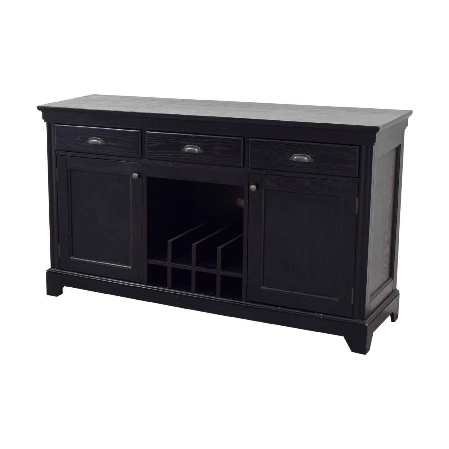 69 off pottery barn pottery barn black entertainment center storage. Black Bedroom Furniture Sets. Home Design Ideas