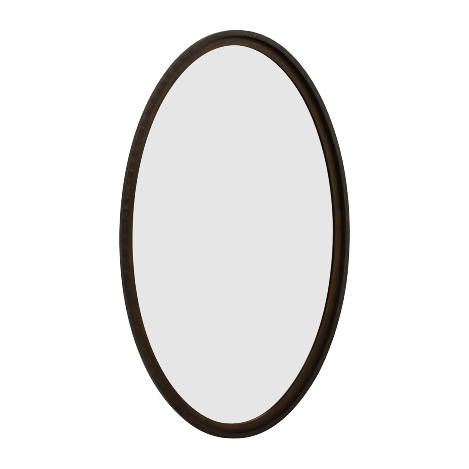 Crate & Barrel Crate & Barrel Oval Wood Framed Wall Mirror dimensions