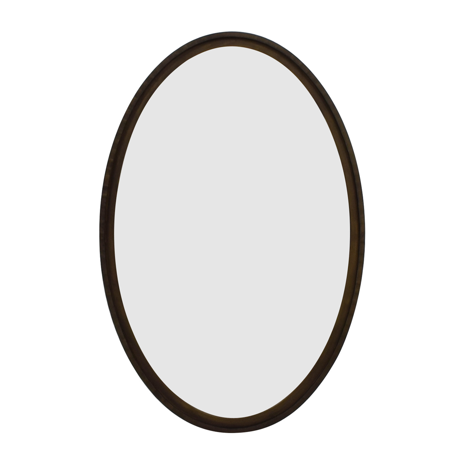 buy Crate & Barrel Crate & Barrel Oval Wood Framed Wall Mirror online