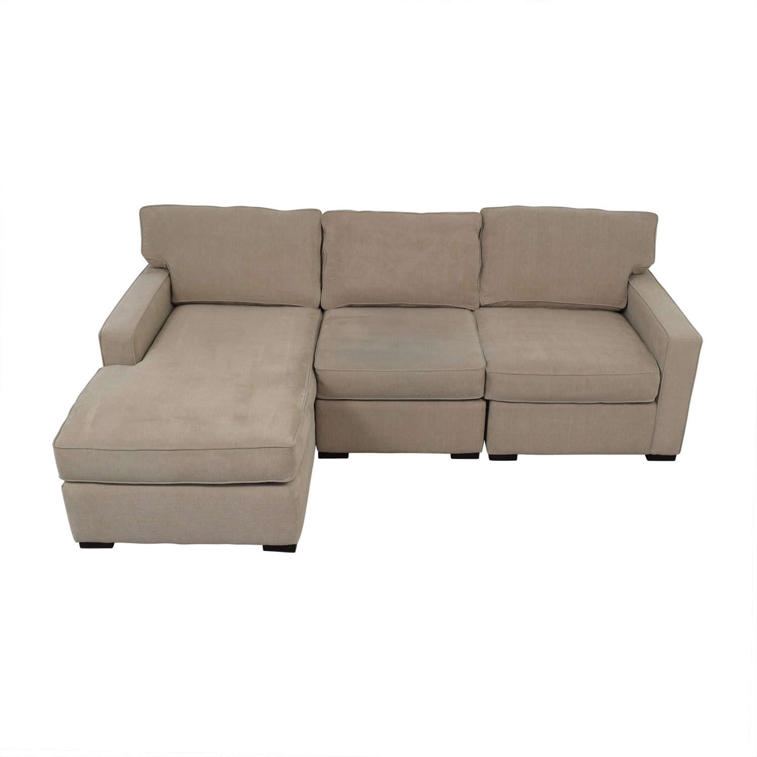 Macy's Beige Chaise Sectional / Sectionals