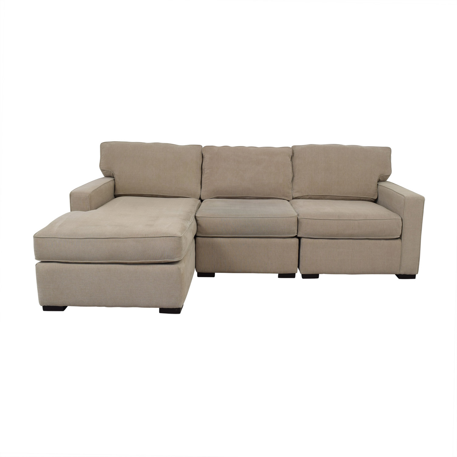 Macy's Beige Chaise Sectional / Sofas
