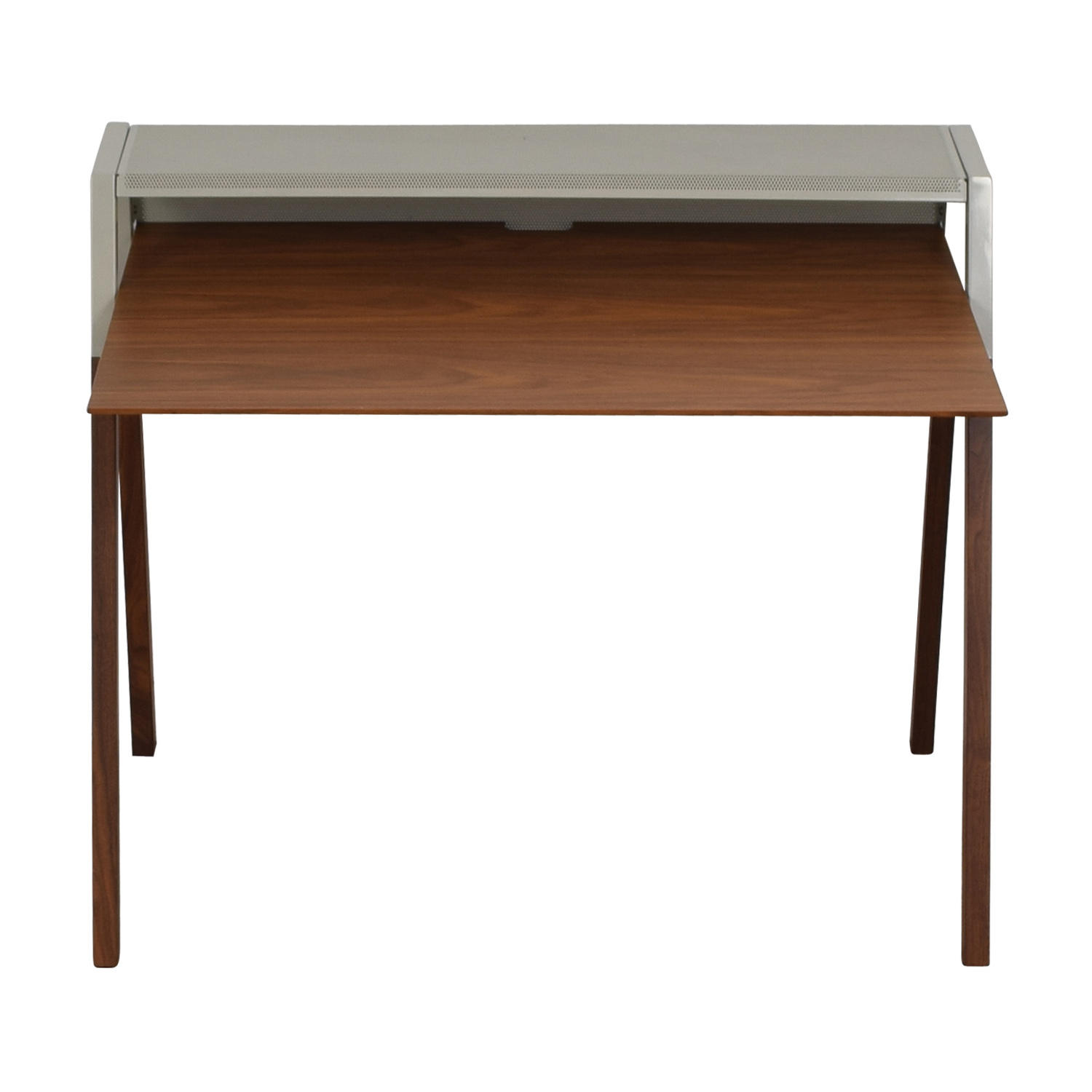 Blu Dot Cant Walnut and Grey Desk / Home Office Desks