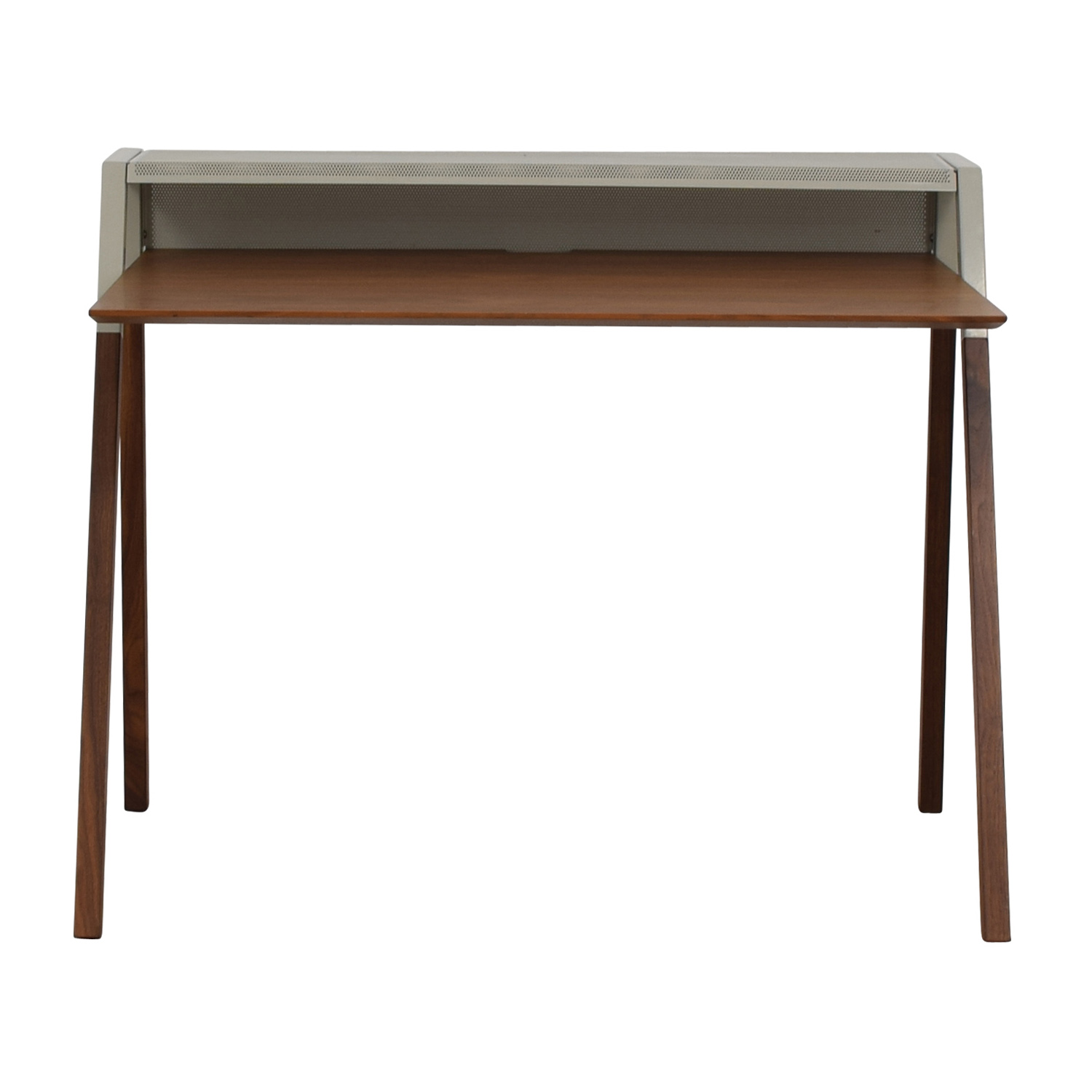 buy Blu Dot Cant Walnut and Grey Desk Blu Dot