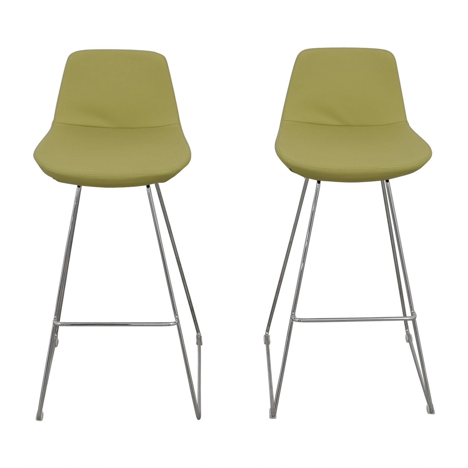 shop Design Within Reach Lime Leather Bar Stools Design Within Reach Chairs